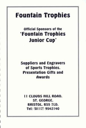 Fountain Trophies - Junior KO Cup Sponsors